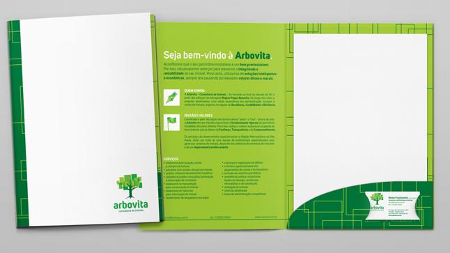 Design de pasta institucional de Arbovita.