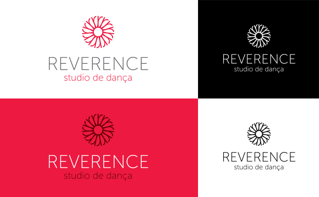 Variações cromáticas da marca Reverence